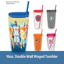 16oz Double Wall Ringed Tumbler